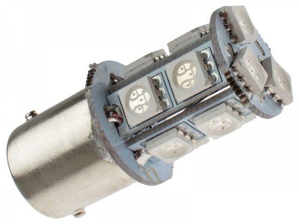 Blinklygtepære - BA15S SMD LED 12V, 3,3W - rød