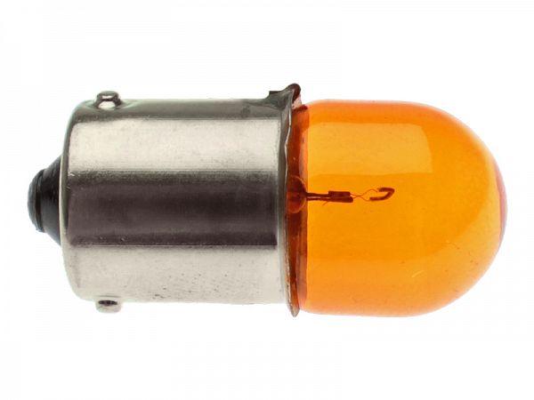 Blinklygtepære orange - BAU15S
