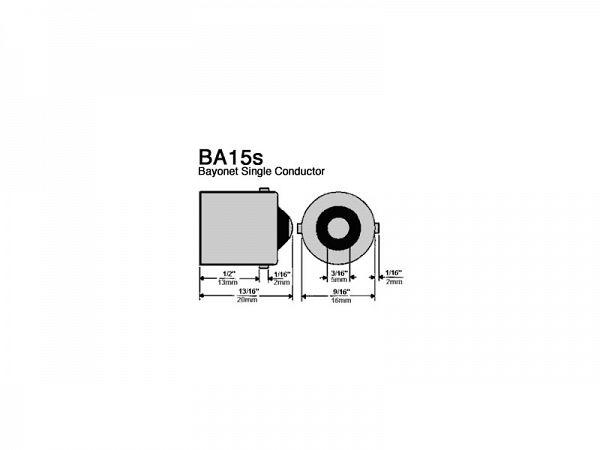 Blinklygtepære sæt - LED BA15S 12V - orange - Str8