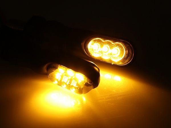 Blinklygter - Smoked Mini LED