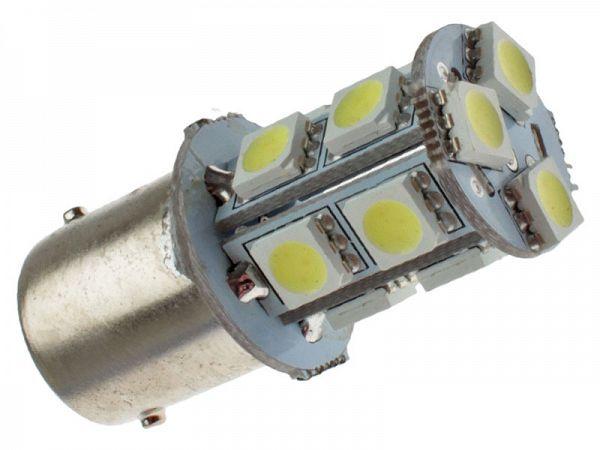 Blinklyspære - BA15S SMD LED, klar