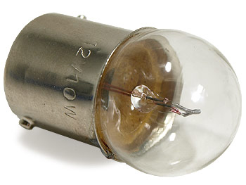 Blinklyspære - BA15S
