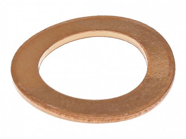 Brass washer for base screw in fork leg