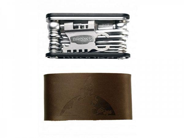 Brooks Multiværktøj 21 Stk. Værktøj Inkl. Brun Læder etui