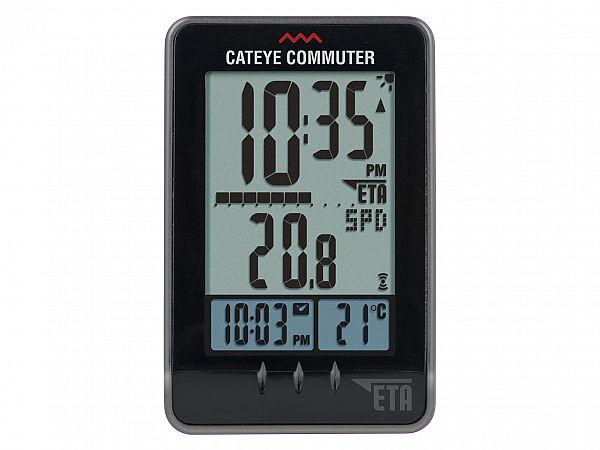 Cateye Commuter, CC-COM10W Cykelcomputer - trådløs - sort