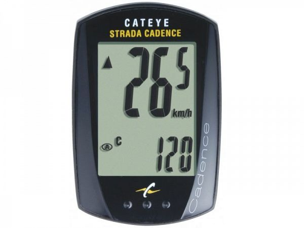 Cateye Strada Cadence CC-RD200 Cykelcomputer - 9 funktioner - sort