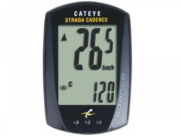Cateye Strada Cadence CC-RD200 Cykelcomputer - 9 funktioner - sort