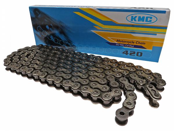 Chain - KMC Reinforced 420, 136L - silver / black