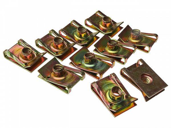 Clip set for screws for shields 6 mm - 10 pcs.