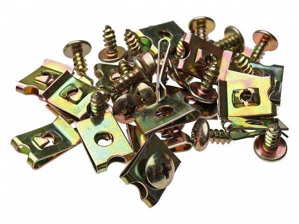 Clips / screw sets for shields M4x10 - 20 pcs.