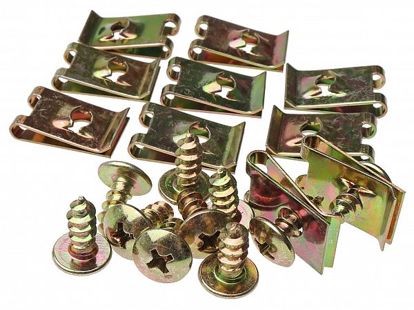 Clips / screw sets for shields M5x12 - 10 sets
