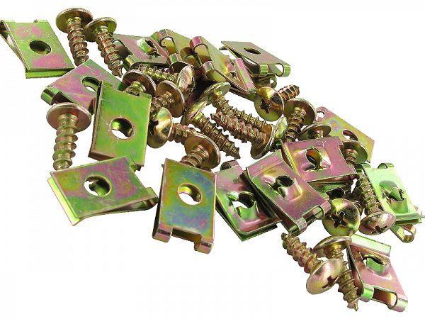Clips / screw sets for shields M5x20 - 20 pcs.