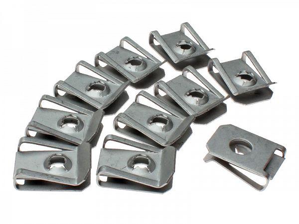 Clipssæt til skruer ved skjolde 4mm - 10 stk.