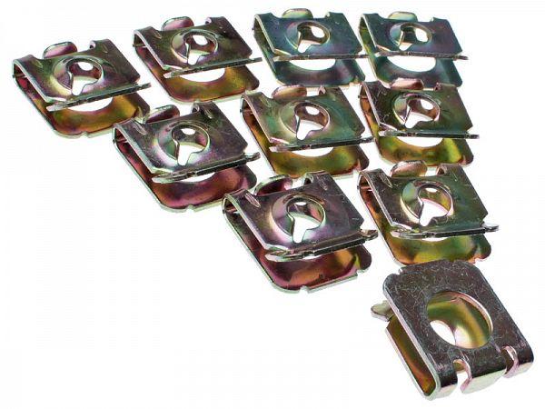 Clipssæt til skruer ved skjolde 5mm - 10 stk.