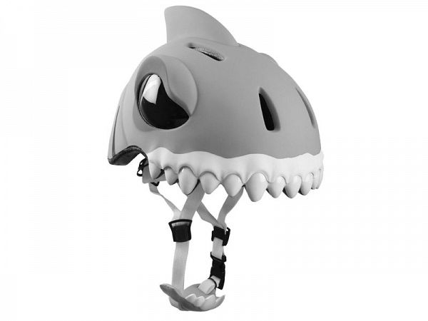 Crazy Safety White Shark Børnecykelhjelm (49-55 cm)