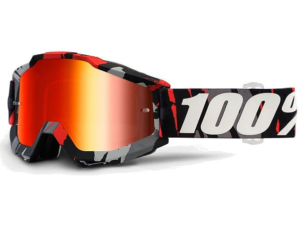 Cross brille - 100% Accuri Magemo, Mirror Red Lens