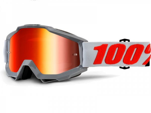 Cross brille - 100% Accuri Solberg, Mirror Red Lens