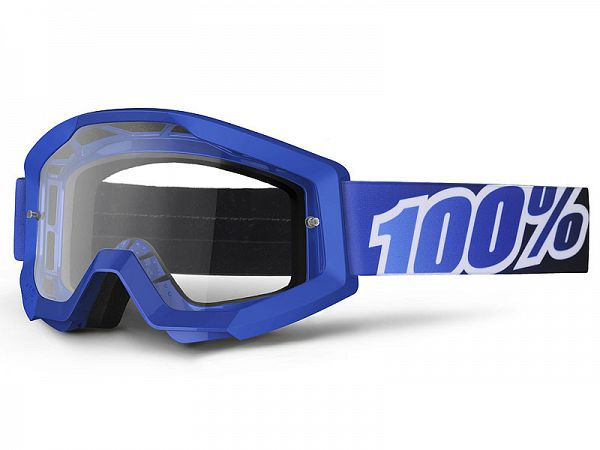 Cross brille - 100% Strata Blue Lagoon MX Goggle