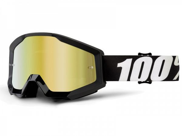 Cross brille - 100% Strata Outlaw, Mirror Gold Lens