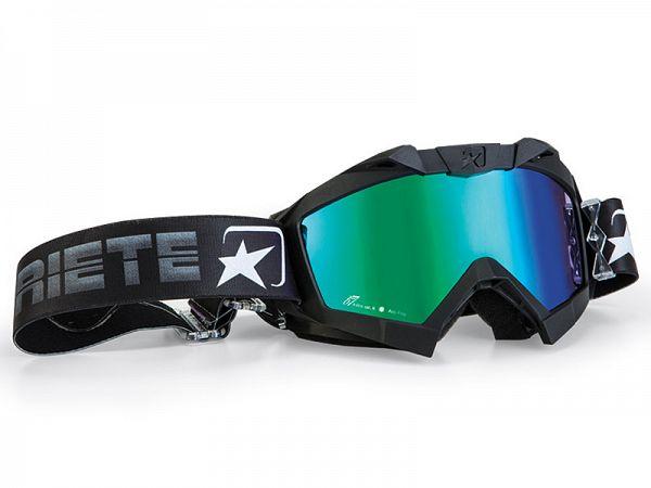 Cross brille - Ariete MX Adrenaline sort med blåt/grønt glas
