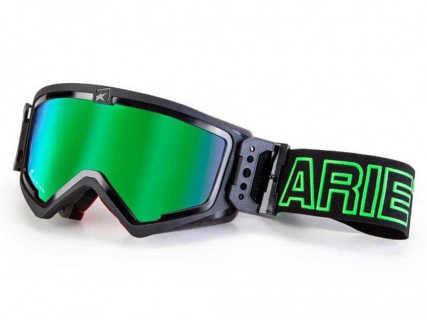 Cross Glasses - Ariete MX Adrenaline, Black / Green