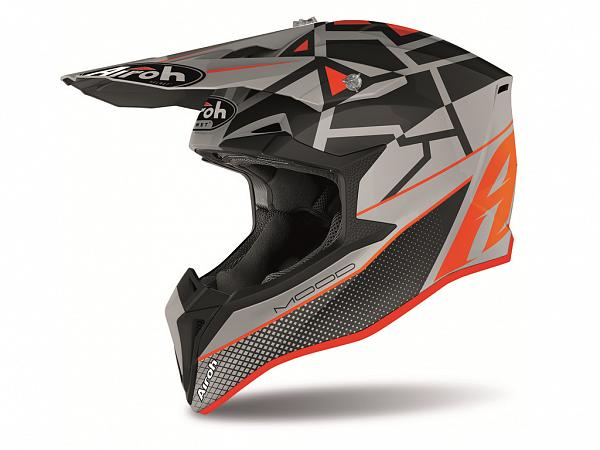 Cross helmet - Airoh Wraap Mood, matte black / gray / orange
