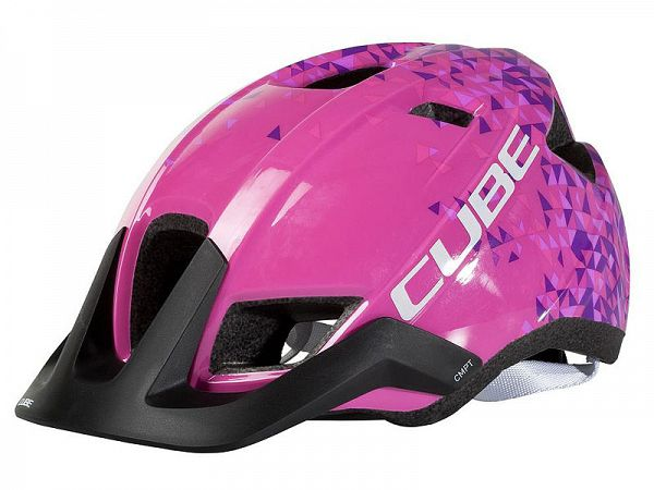 Cube CMPT Youth Cykelhjelm Pink Triangle One Size