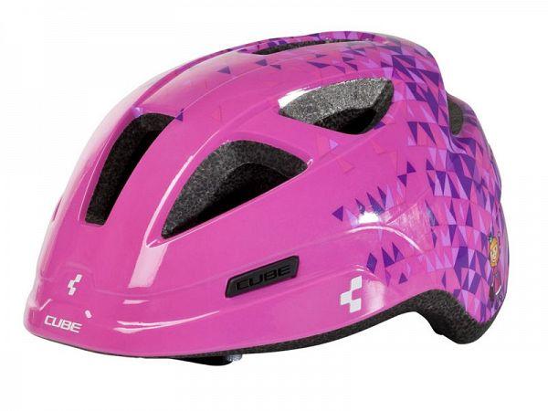 Cube Pro Junior Cykelhjelm Pink Triangle