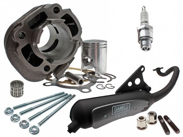 Cylinder and exhaust kit for Minarelli horizontal 50ccm Euro2 - ø10mm