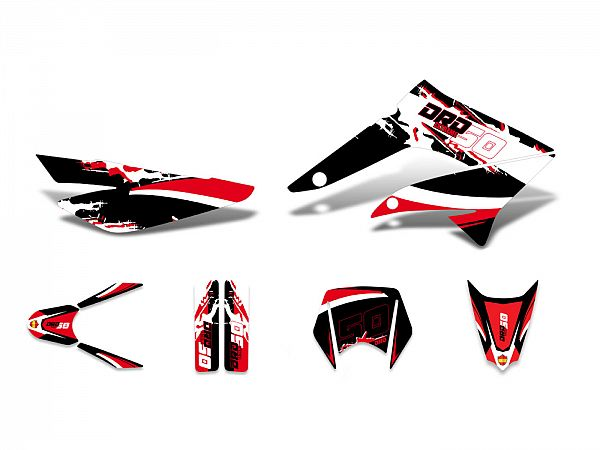 Decal set - red / white / black - glossy