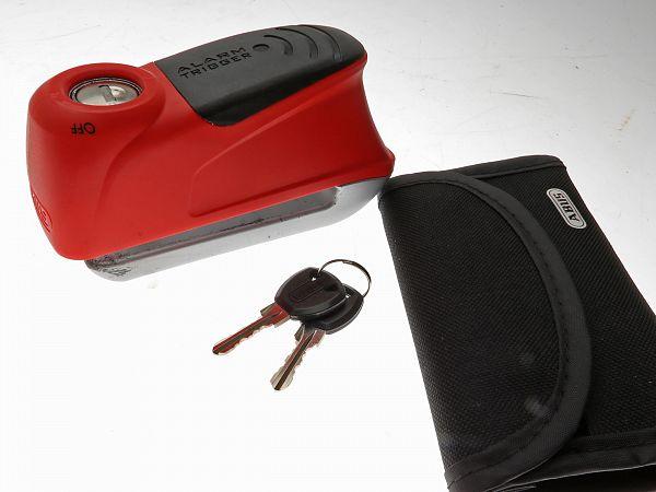 * DEMO * Disc brake lock - Abus Trigger Alarm 350, red