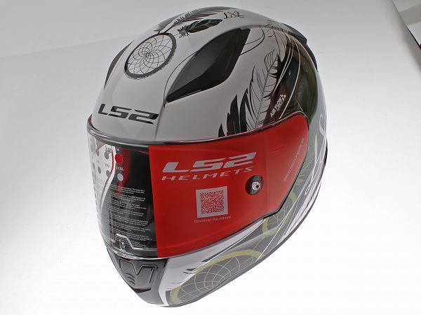 * DEMO * Helmet - LS2 FF353 Rapid Boho, white / black / pink, medium