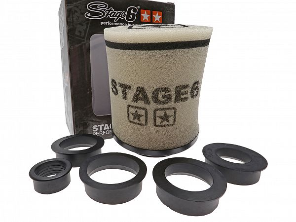 *DEMO* Powerfilter - Stage6 Racing Double-Layer rund, hvid, 28-/35-/42-/45-/55mm