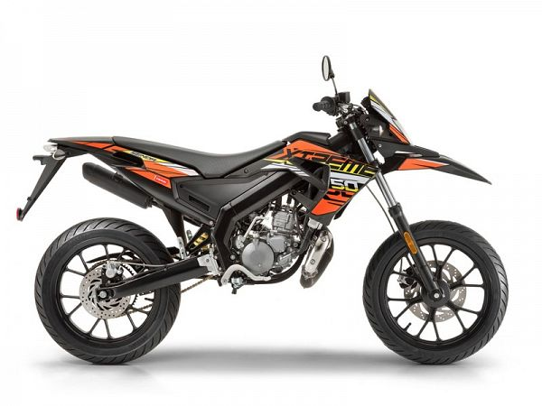 Derbi Senda X-Treme SM Euro4 - orange/sort - 30 km/t