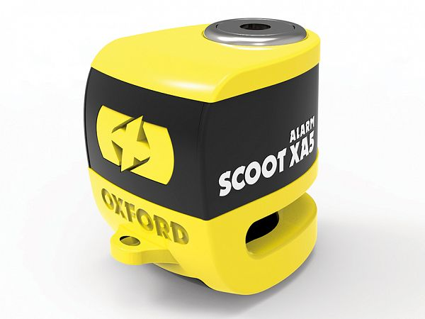 Disc brake lock - Oxford Scoot XA5, yellow