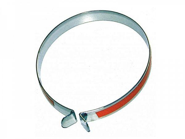 Edge Bukseklampe Chrome m. Rød Refleks, 1 stk.