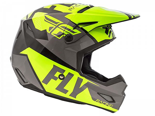 FLY Elite Guild Hjelm, Hi-Vis/Grey/Black