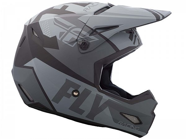 FLY Elite Guild Hjelm, Matte Grey/Charcoal/Black