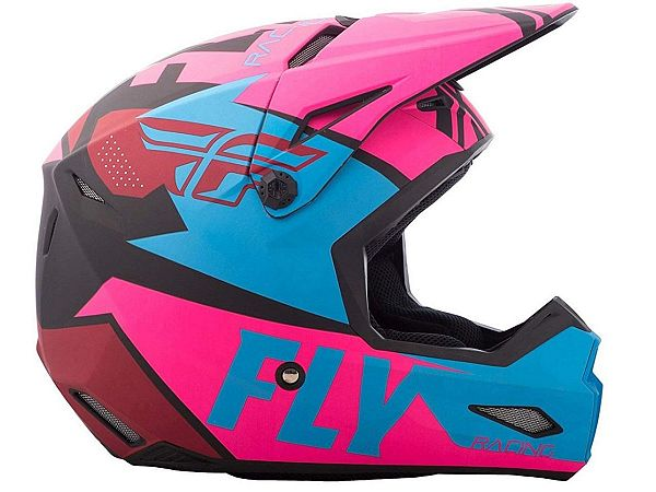 FLY Elite Guild Hjelm, Matte Neon Pink/Blue/Black