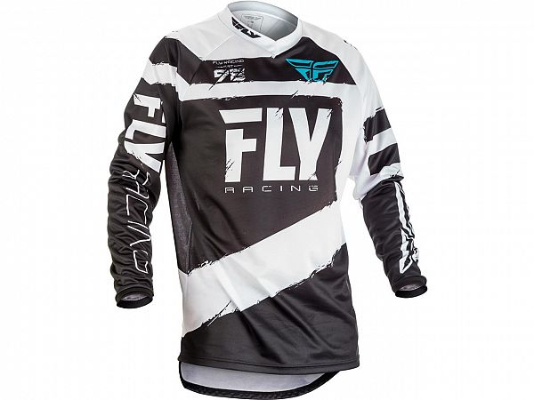 Fly F-16 Jersey Black / White Junior Jersey