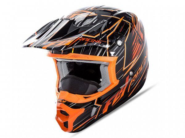 FLY Kinetic Pro Hjelm Orange/Sort