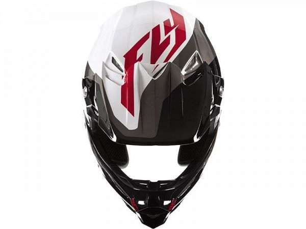FLY Racing F2 Carbon Pure BMX Hjelm WH/BK/GRY