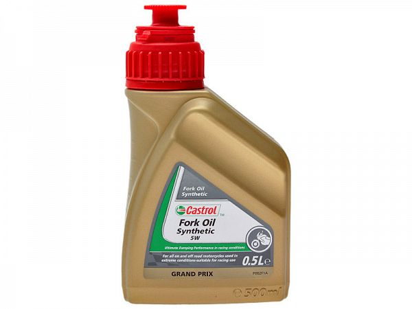 Fork oil - Castrol 5W synthetic 500ml