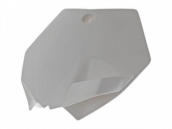 Fornummerplade - UFO - KTM style -  hvid