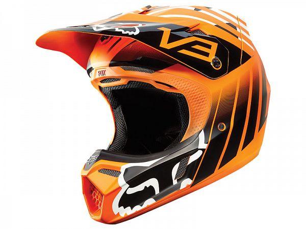 Fox V3 Savant Hjelm, orange