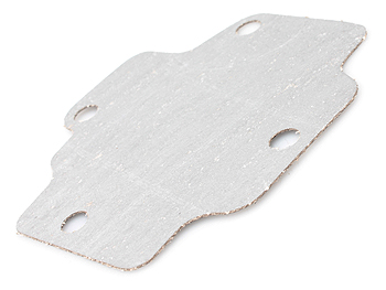 Gasket by plate in valve cover