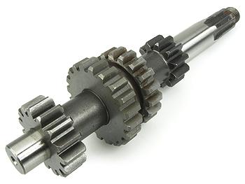 Gearaksel m. tandhjul - 4 gear