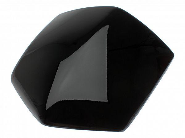 Glas ved styrskjold - sort