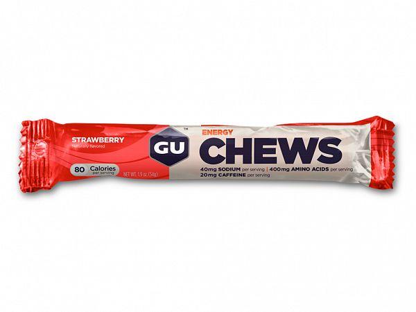 GU Energy Chews Strawberry Wine Gum, 8 pcs