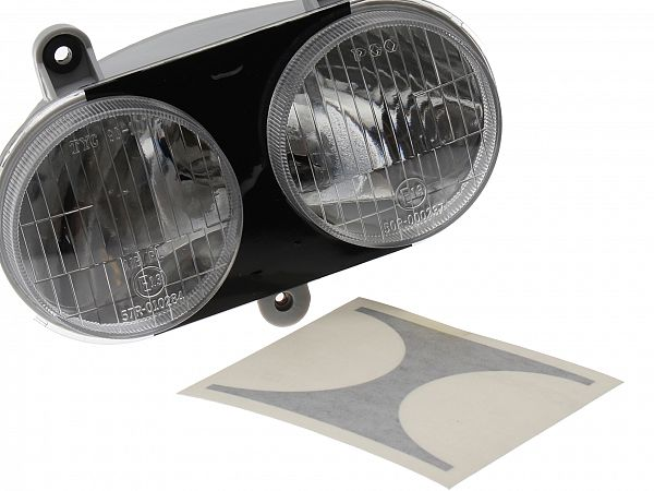 Headlamp black, black